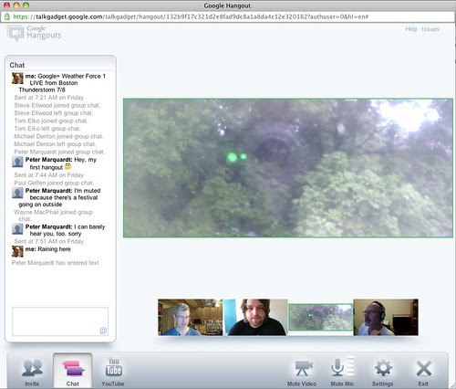 Google+ Hangout Weather Video Stream by stevegarfield