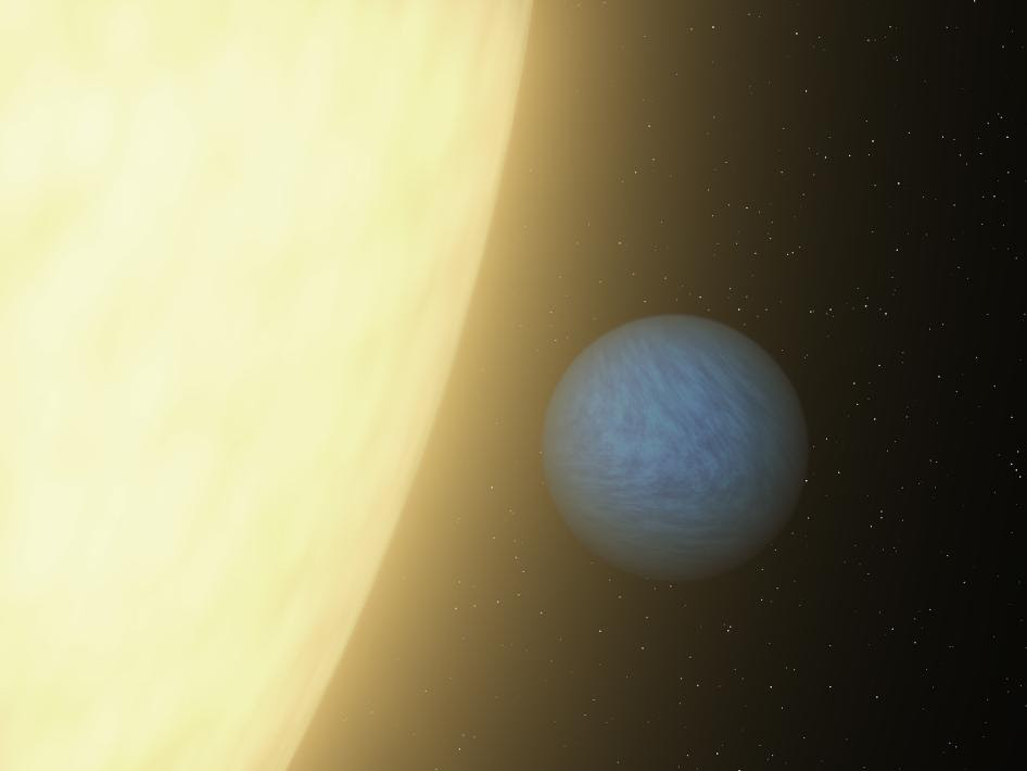 Artist's concept of the planet called 55 Cancri e