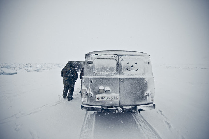 Lago Baikal invierno