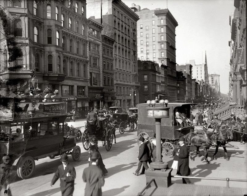 Avenue and 42. Street, New York 1910.