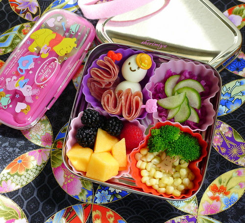 So Cute TinySprite Cube Bento by sherimiya ♥