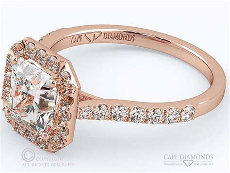 67. Wholesale Radiant Halo Engagement Ring Cape Town