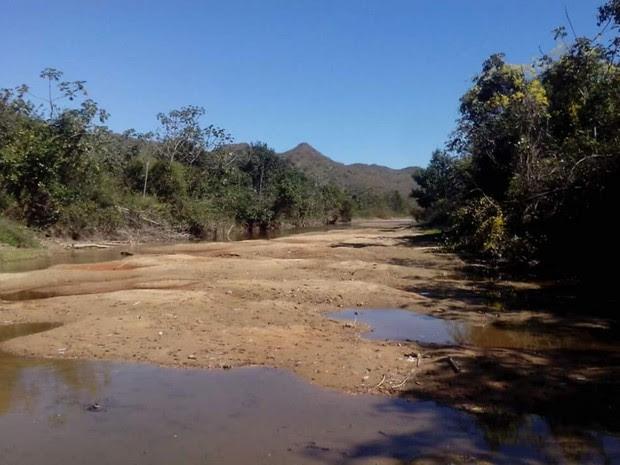 Foto tirada do Rio do Onça há 10 dias (Foto: Saae/Arquivo Pessoal)