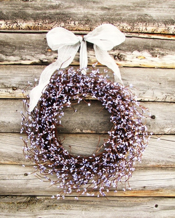 Lilac Lavender Berry Wreath- EASTER Wreath- Mothers Day Gift-Door Wreath-Spring Wreath-Lavender Scented-Choose Scent & Ribbon