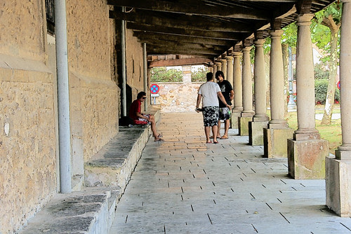 soportales iglesia de Luanco