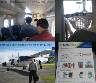 inside the twin otter to Mukah