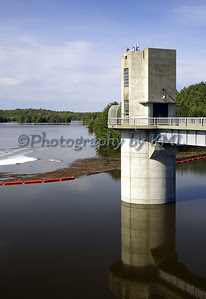 rising water at the dam