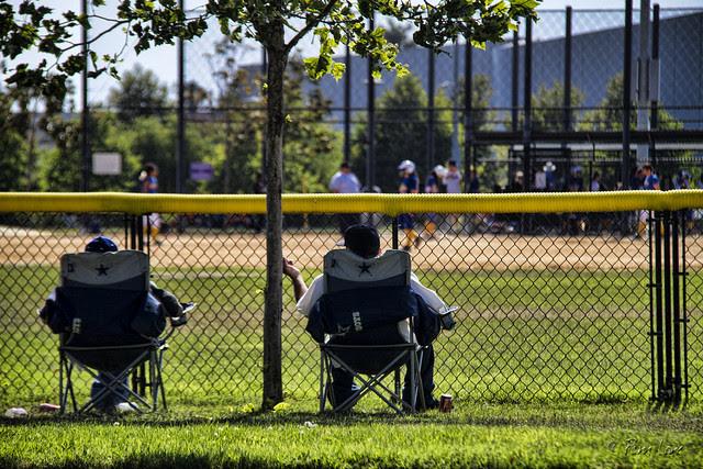 Sunday afternoon baseball game