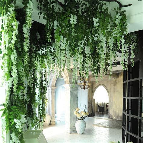 200pcs/lot Wholesale Artificial Flower Vine Wisteria