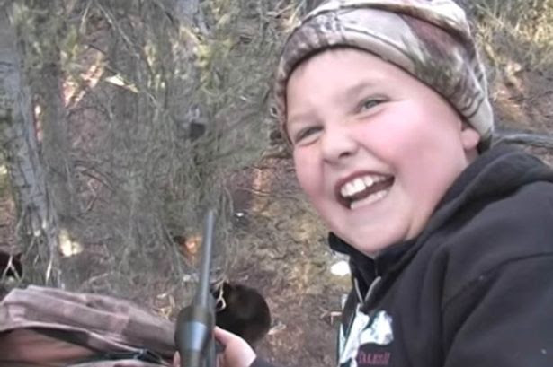 """Reed took his first bear with a perfect shot"""