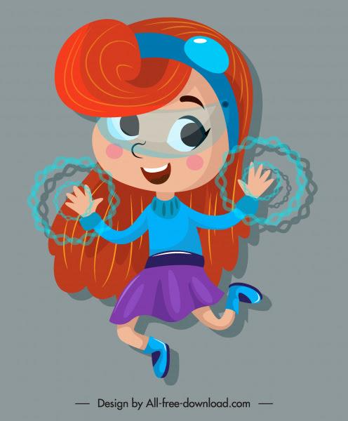 Pahlawan Ikon Gadis Sihir Lucu Karakter Kartun Sketsa Vektor Icon Vektor Gratis Download Gratis