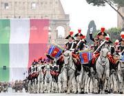 I carabinieri a cavallo nella parata del 2009