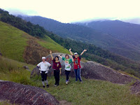 Emay, Tsunami, Amelia and Guat Ling on the hill top