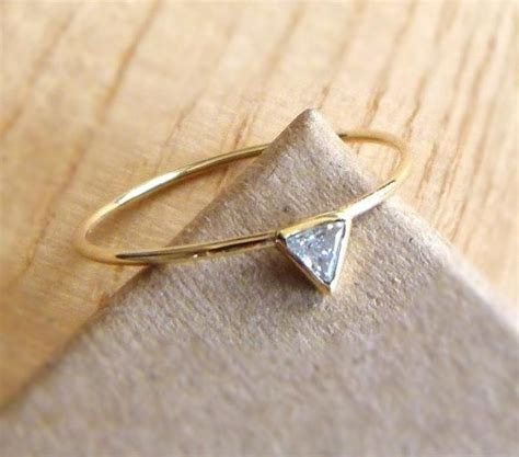 25  best ideas about Triangle engagement ring on Pinterest