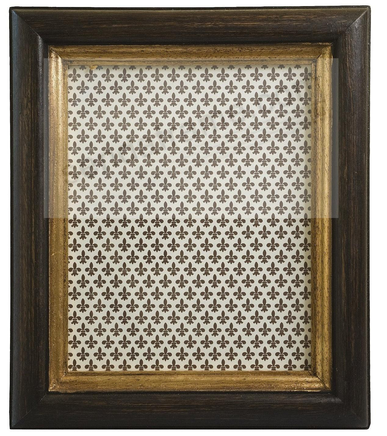 Antique Dark Brown And Gold Carved Wood 5x7 Frame By Eccolo