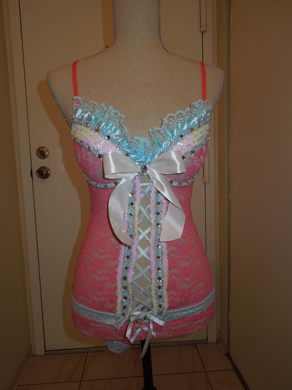 light bluepink rave outfit s 5glambamapparel on etsy