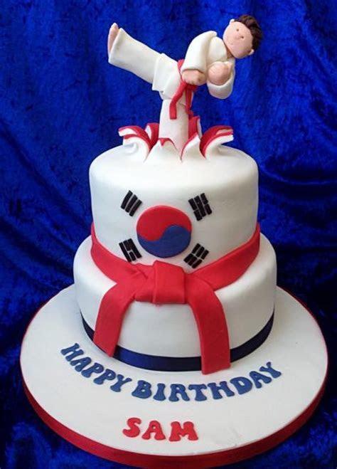 Taekwondo Karate Martial Arts theme 2 tier cake with