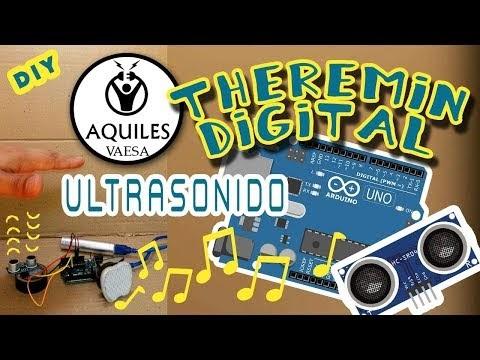 """Cómo hacer un Theremin digital fácil de armar y """"tocar"""" con Arduino y sensor de ultrasonido"""