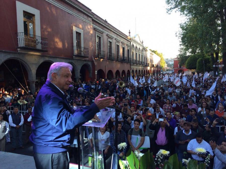 AMLO de gira en Tlaxcala. Foto: Especial