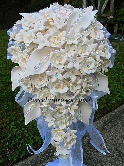 porcelain wedding bouquets