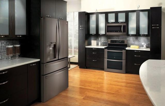 Kitchen Design With Black Stainless Appliances Home Architec Ideas