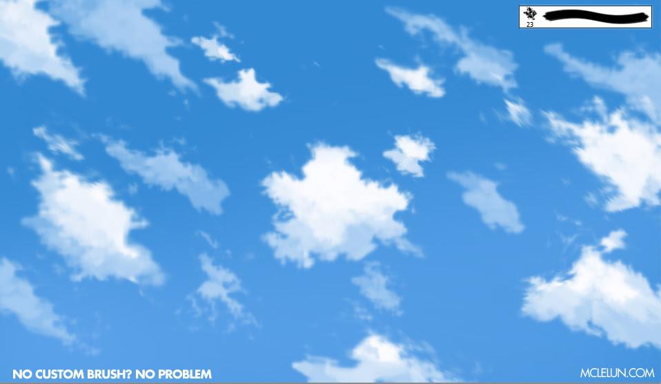 anime cloud painting