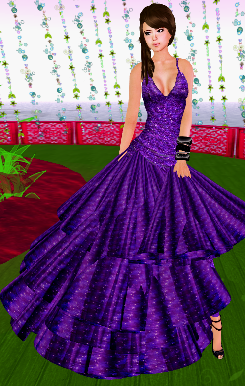 [NEW] SHIKI-long dress STARDUST VIOLET