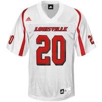 adidas Louisville Cardinals #20 Replica Football Jersey - White
