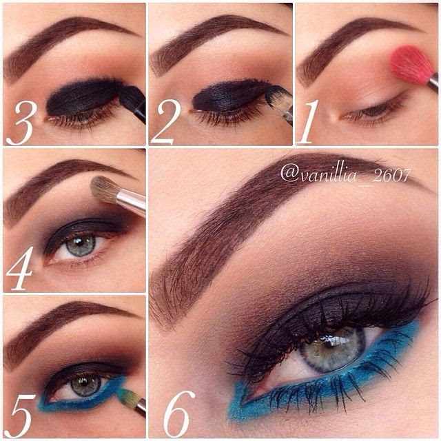 Pictorial, Smokey Eyes with Blue Liner