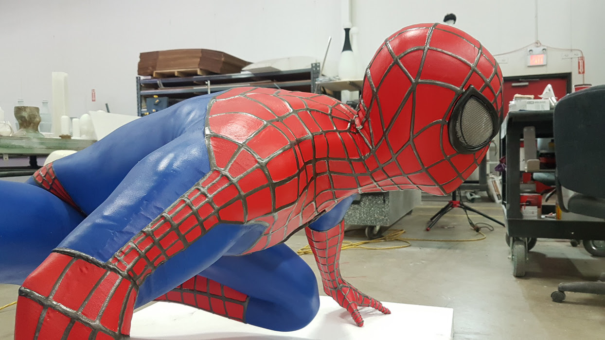 3d Printed Life Sized Spiderman By Media Resources