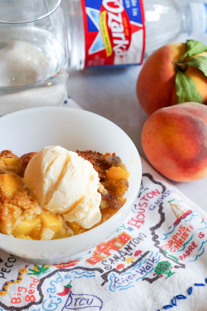 Texas Peach Pecan Cobbler ... a must try even if you don't live in Texas!