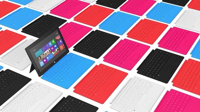 Microsoft Surface - imagem retirada do site The Verge