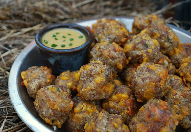 Garlic Cheese Sausage Balls 2