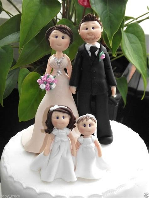 personalised cake topper (custom)   fondant   Wedding