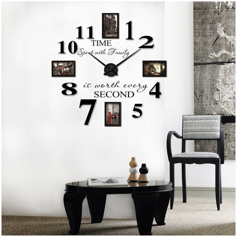 Buy Diy 3d Acrylic Wall Clock With Frames I 108 At Eliforpk