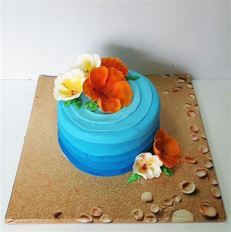 Hawaiian Flower Cake   Kosher Cakery