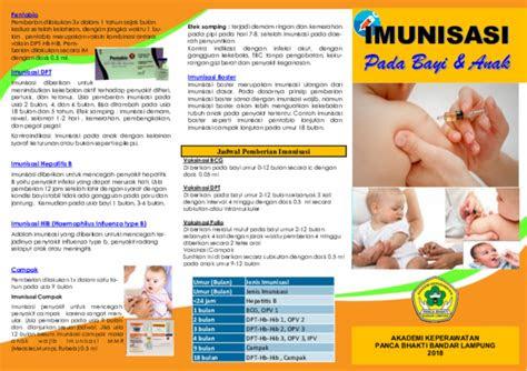 leaflet imunisasipdf ian net academiaedu