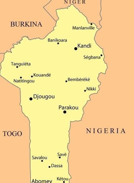 Ou Se Trouve Le Benin Sur La Carte | Carte De France