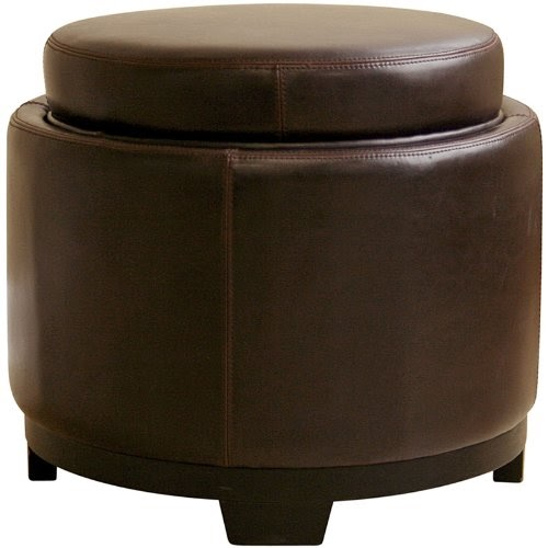 Affordable Ottomans: Cheap & Discount Round Leather Ottoman Online: Wholesale