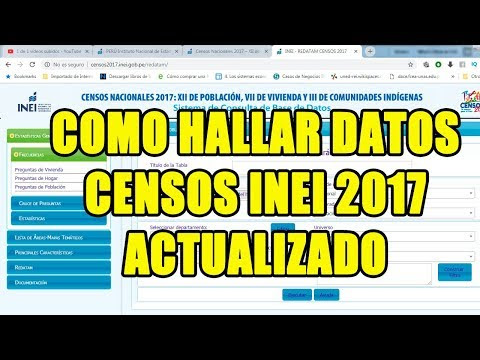 COMO USAR DATOS INEI PERU CENSO 2017 HOY EN 2019