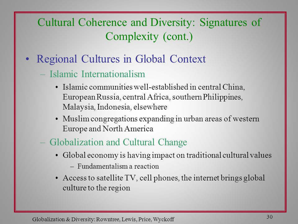 Globalization  Diversity: Rowntree, Lewis, Price, Wyckoff  ppt video online download