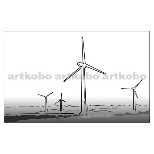 教材イラスト図版工房 Rc2m風力発電2