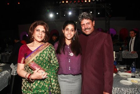 Image result for Kapil Dev, Romi and Daughter images