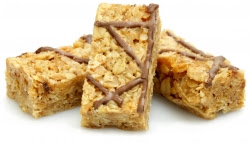 rustic rolled oat flapjack with chocolate and orange
