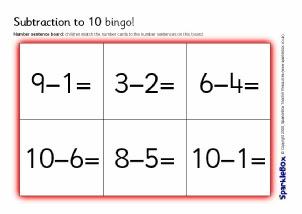 Primary School Subtraction Activities and Games resources - SparkleBox