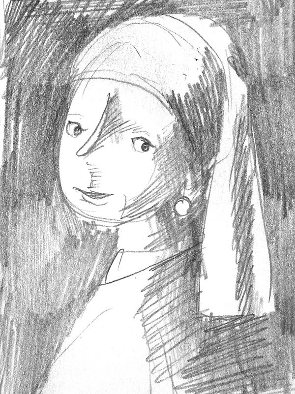 Ten Paces: mastercopy (Girl with the pearl earring by Vermeer)
