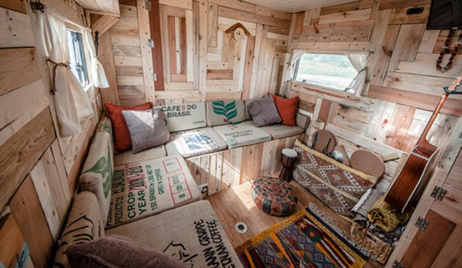 Our living room, built right into this wagon. Photo: Matt H-B