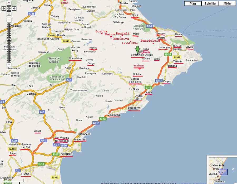 25 Impressionnant Alicante Carte Espagne