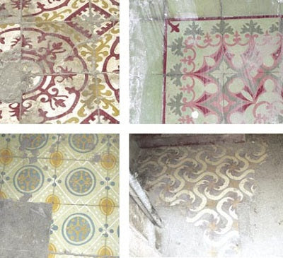 Cuban Tiles found in Old Havana and Camaguey are in disrepair