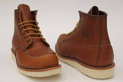 Red Wing Mens Tan Leather Lace Logger Work Boots